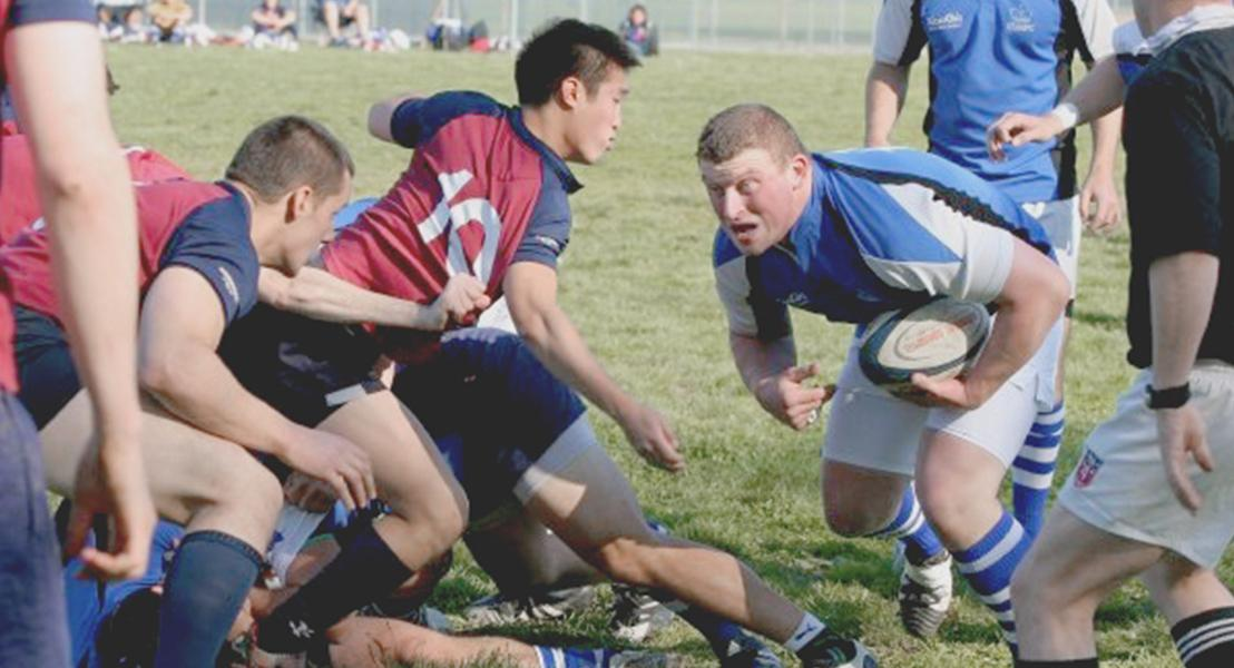 Damian played rugby